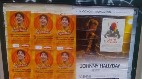Le grand dadais affiché dans les rues de Lyon